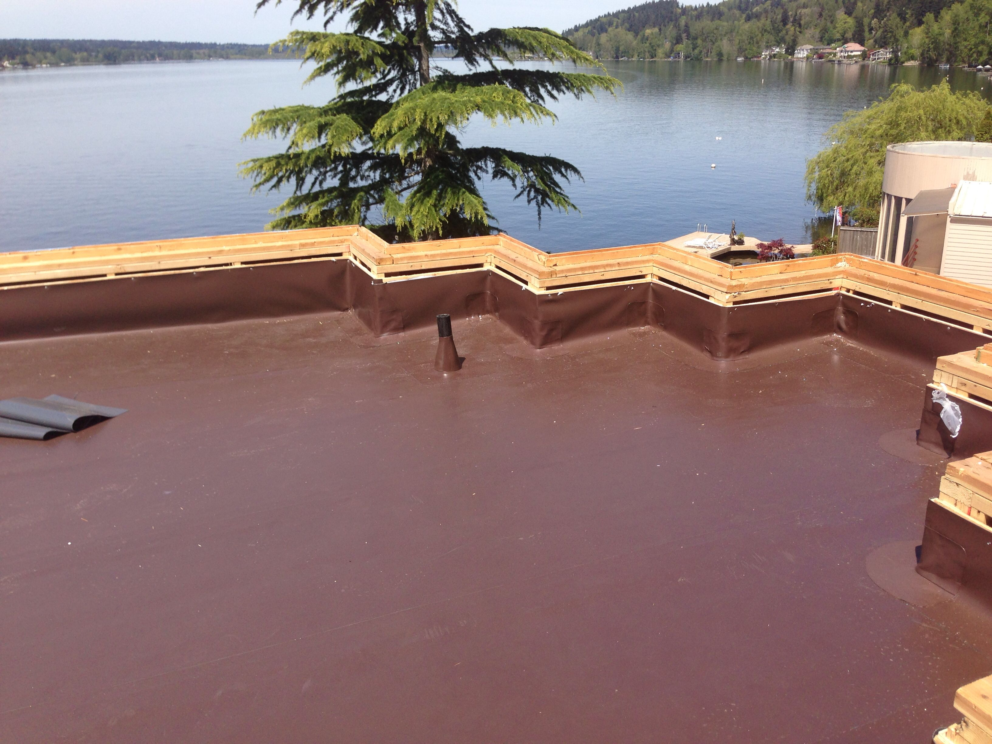 Wonderful 80 Mil PVC Membrane Roof System By IB Roof Systems. Shown In Dark Brown.