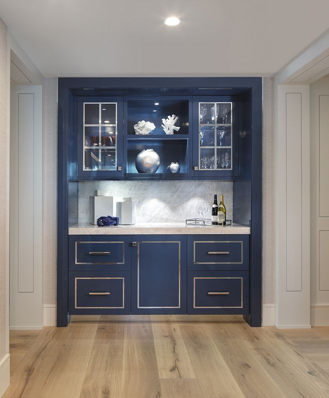 Benjamin Moore Hc 155 Newburyport Blue High Gloss Cabinet Navy Lacquer