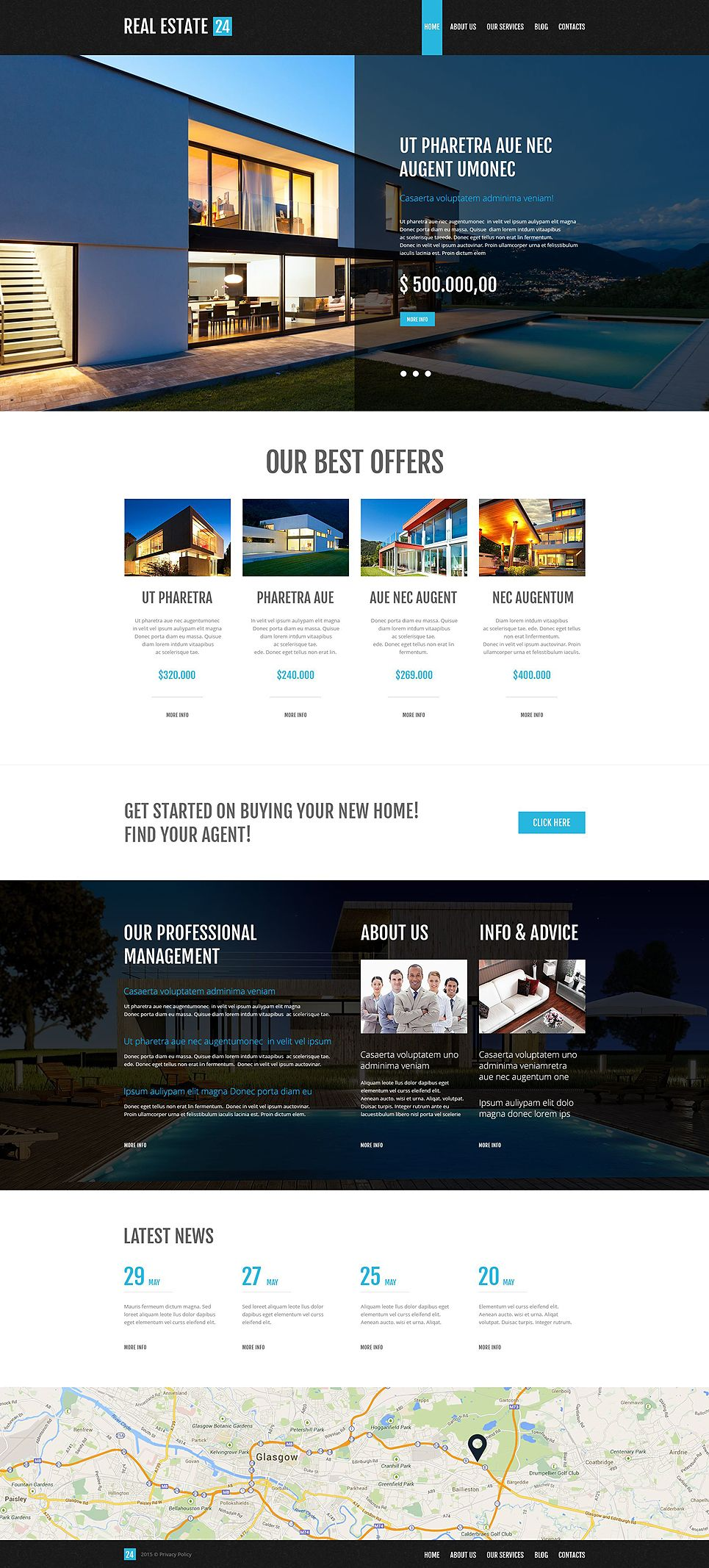 Realtor Services Wordpress Theme Web Design Pinterest Website