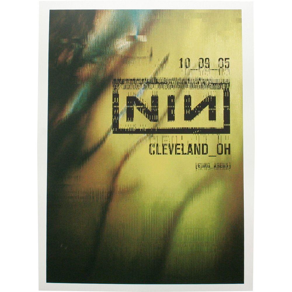 cleveland 10/09/05 tour poster -Nine Inch Nails | Music | Pinterest ...