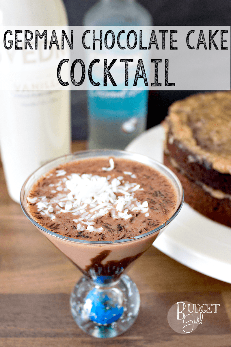 German Chocolate Cake Cocktail Recipe Vanilla vodka Coconut rum