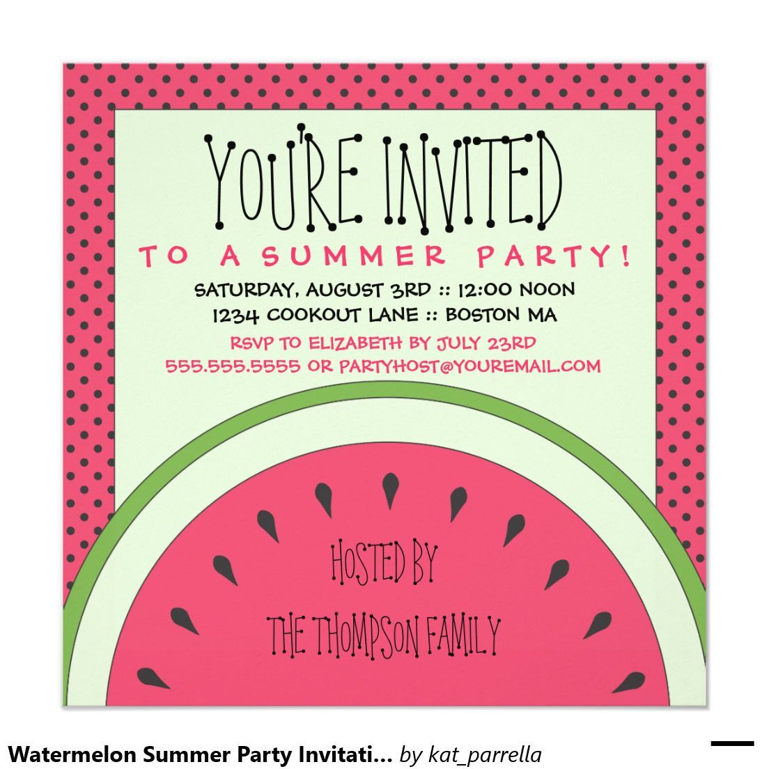 The Party Invitation Wording Free | Invitations Card by ...
