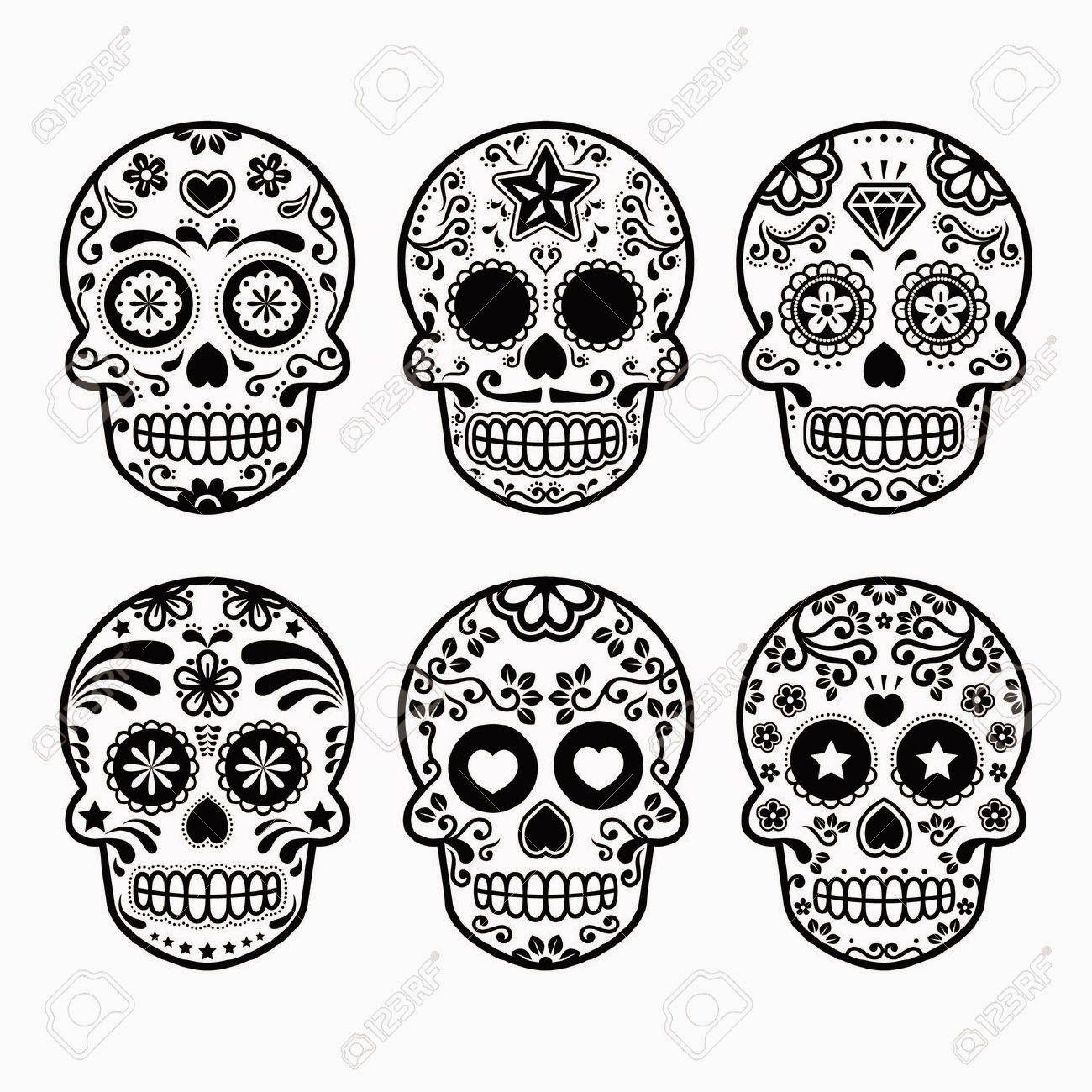 Plantilla calaveras 2   Tattoos   Pinterest   Dia de Los Muertos ...