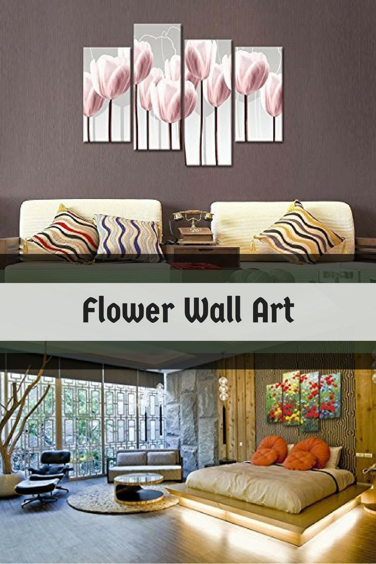 Improve the look on the inside of your home by using floral wall art
