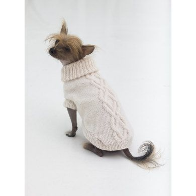 Prep Dog Sweater in Lion Brand Wool Ease - L32372   Knitting ...