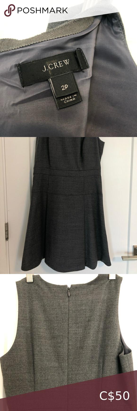 J.Crew sleeveless gray dress (XXS)