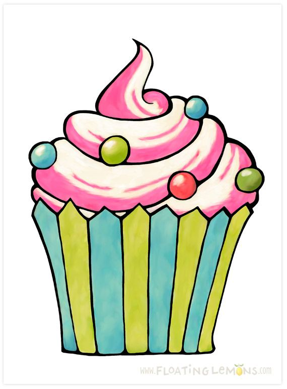 Painted Cupcakes And More Painted Cupcakes Scrapbook