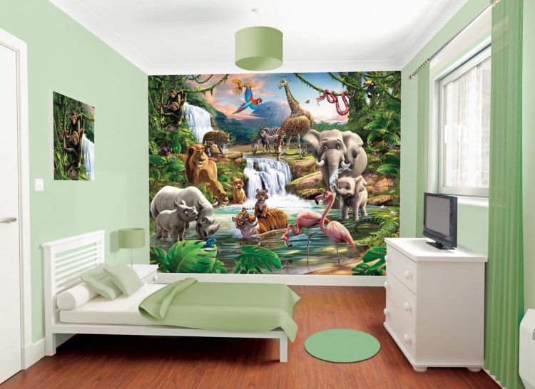 Jungle Adventure Bedroom In A Box By Walltastic : Wallpaper Direct