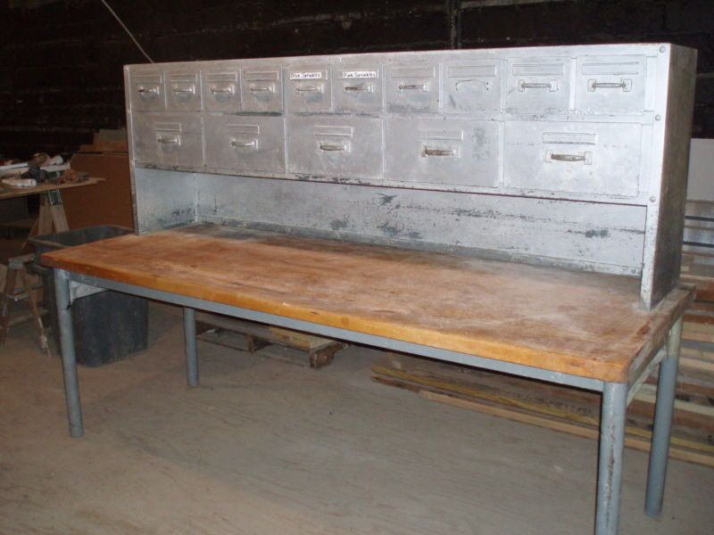Commercial Butcher Block Table Work Bench Bakery Antique Dough Bread | EBay