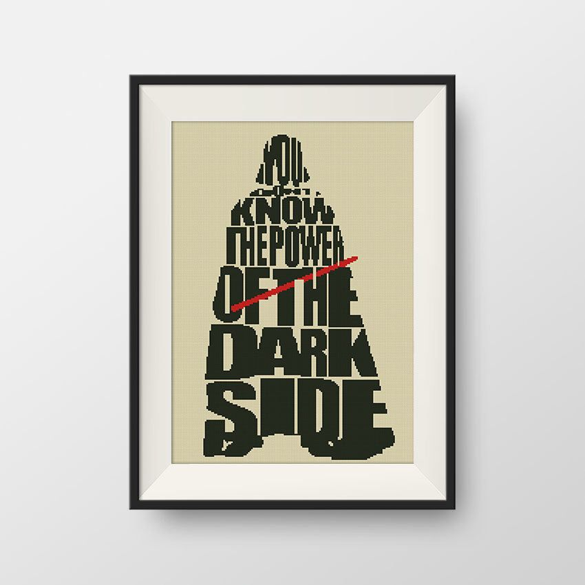 BUY 2, GET 1 FREE! Star Wars Cross stitch pattern, Quote cross ...