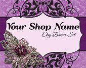 Etsy Banner Set, Etsy Shop Banner, Premade Etsy Banner, Etsy Shop Banner And Avatar Set--Jewelry Etsy Banner - 158