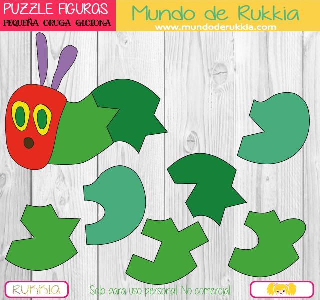 Puzzles Geométricos de la Pequeña Oruga Glotona | Pinterest | Oruga ...