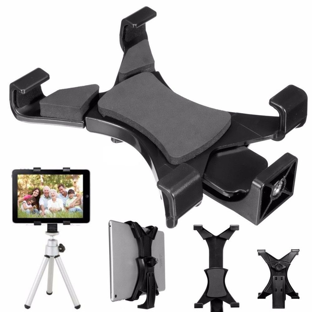 "Universal Tripod Mount Holder Bracket 1//4/""Thread Adapter for 7~10.1/"" Tablet iPad"