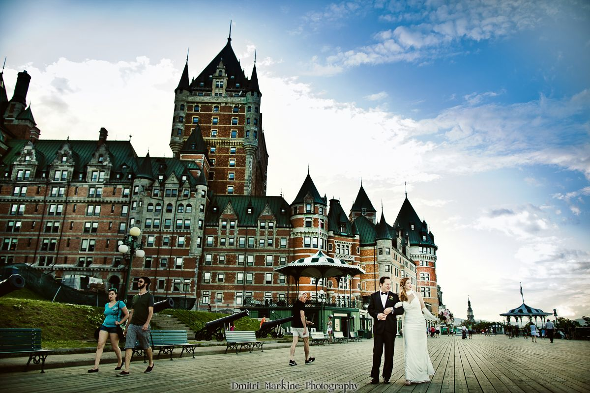 Fairmont Le Chateau Frontenac Wedding In Old Quebec
