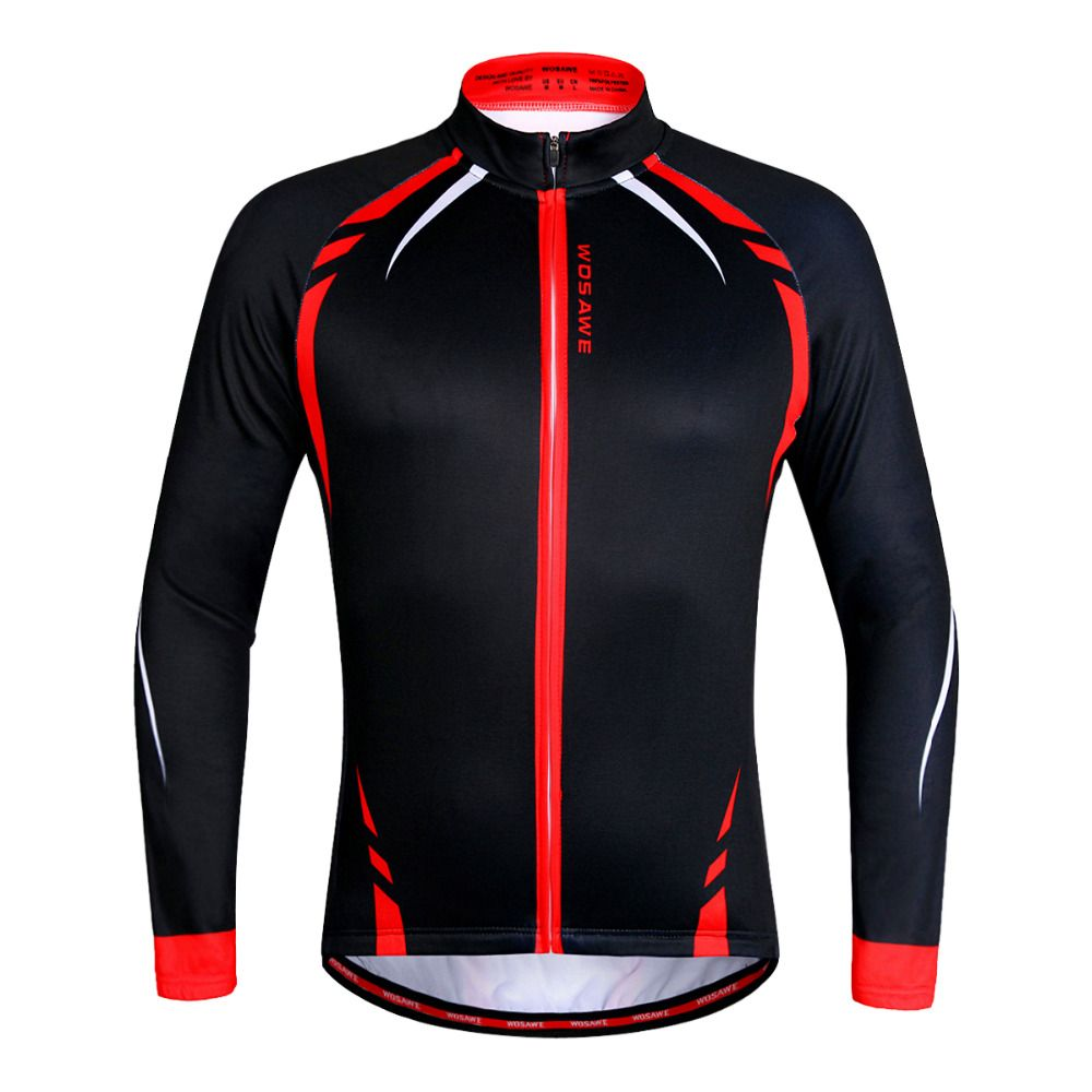 WOSAWE Men s Cycling Jacket Thermal Fleece Jerseys Bike Bicycle Long Sleeves  Mountain MTB Road Clothing Shirt Windproof For Men   Price   US  29.99    FREE ... afd707394