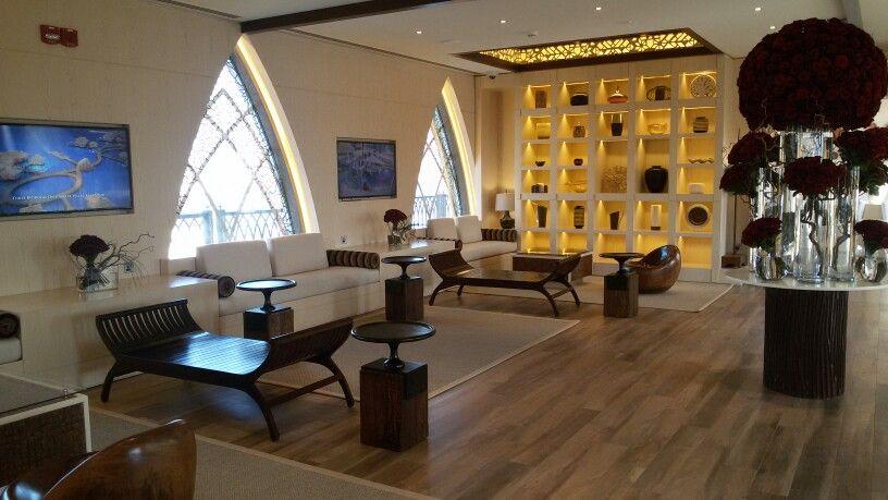 The waiting area located in The Pearl-Corniche