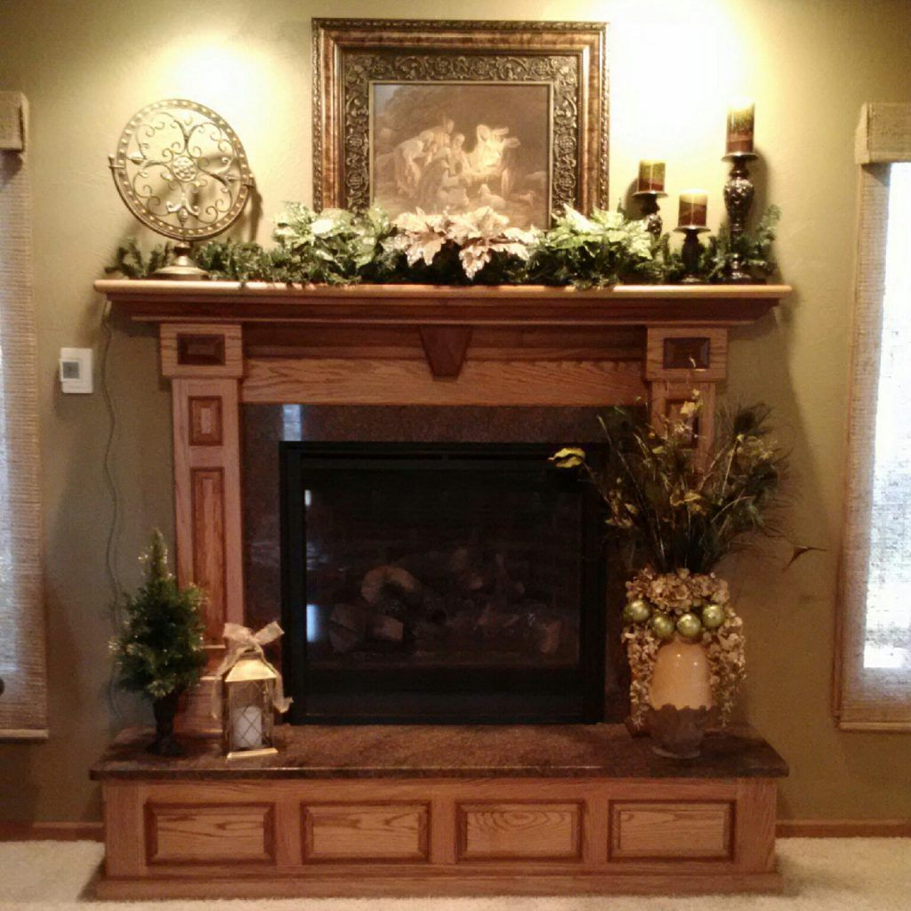 Interior Elegant Fireplace Mantel Decorating Ideas For Spring Also