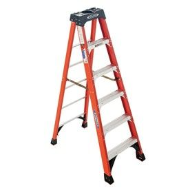 Werner 6 Ft Fiberglass 300 Lbs Type Ia Step Ladder Item 97106 Model Nxt1a06 79 00 Step Ladders Ladder Fiberglass