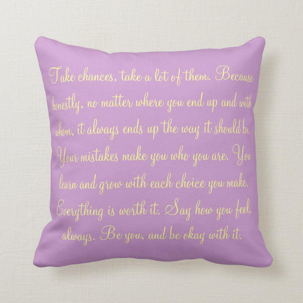 Custom Throw Pillow - Inspirational Quote Pillow Pillows - Zazzle Personalized Throw Pillow