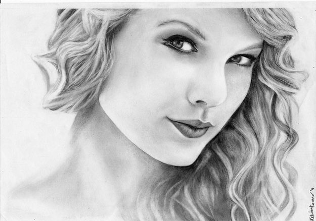 25 Amazing Taylor Swift Drawings   artee   Pinterest   Famosos y Dibujos