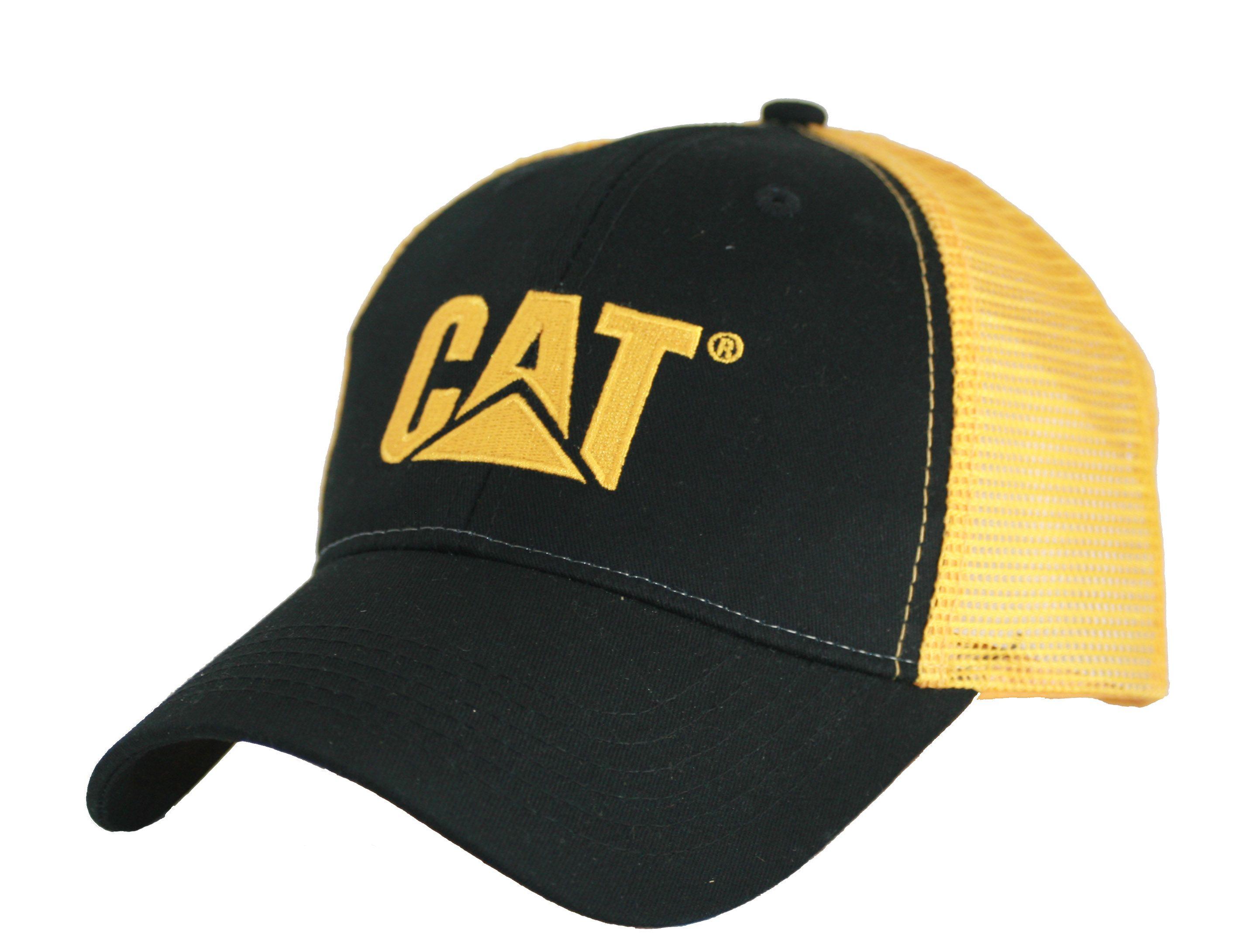 7767e2d0843 Caterpillar Merchandise - CAT Merchandise - CAT Caps - Caterpillar CAT  Black   Gold Cap