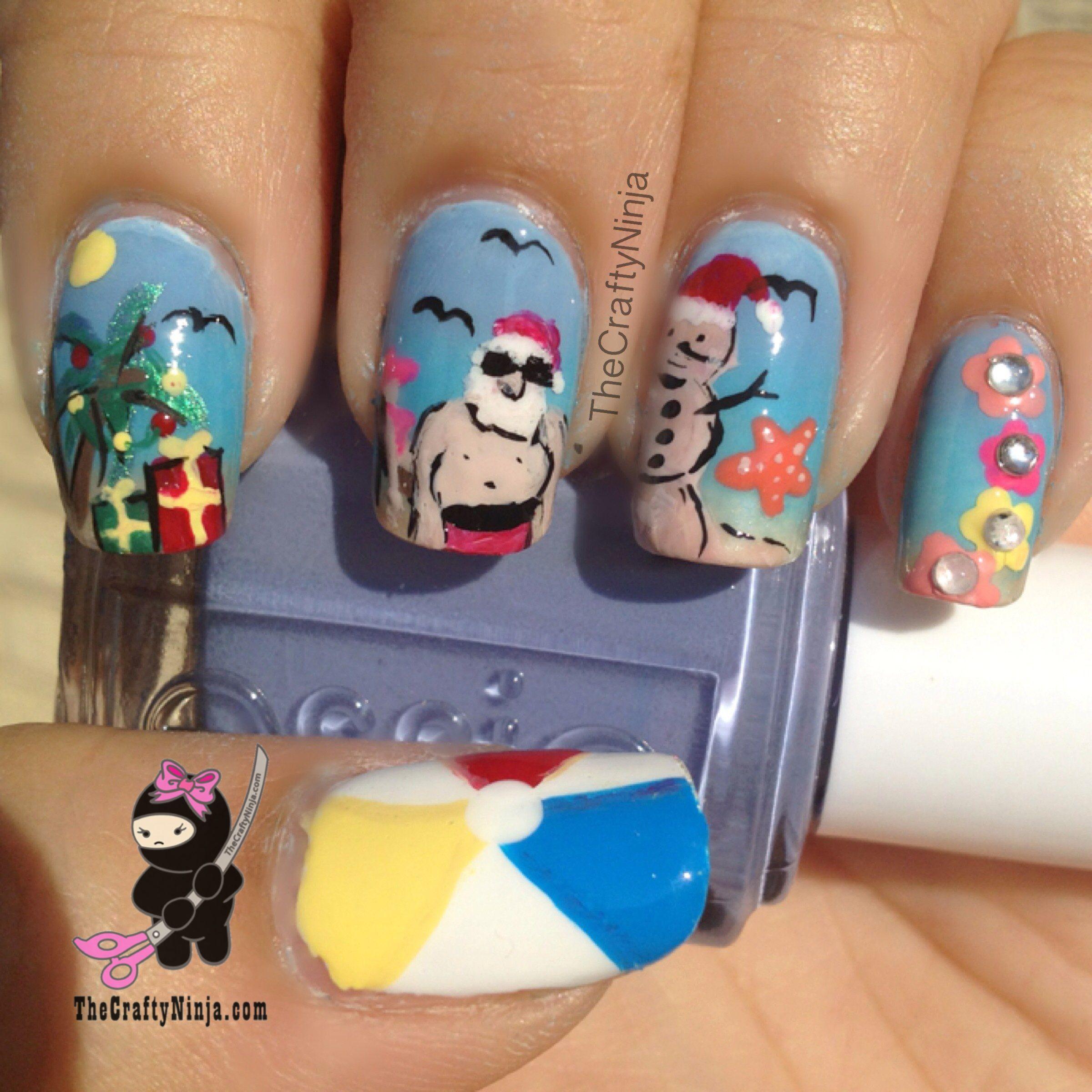 Christmas In July Santa Claus Nails Christmasnails Nailart Christmasnailart Xmasnails Christmasinjuly Christmas Nails Nails Santa Nails