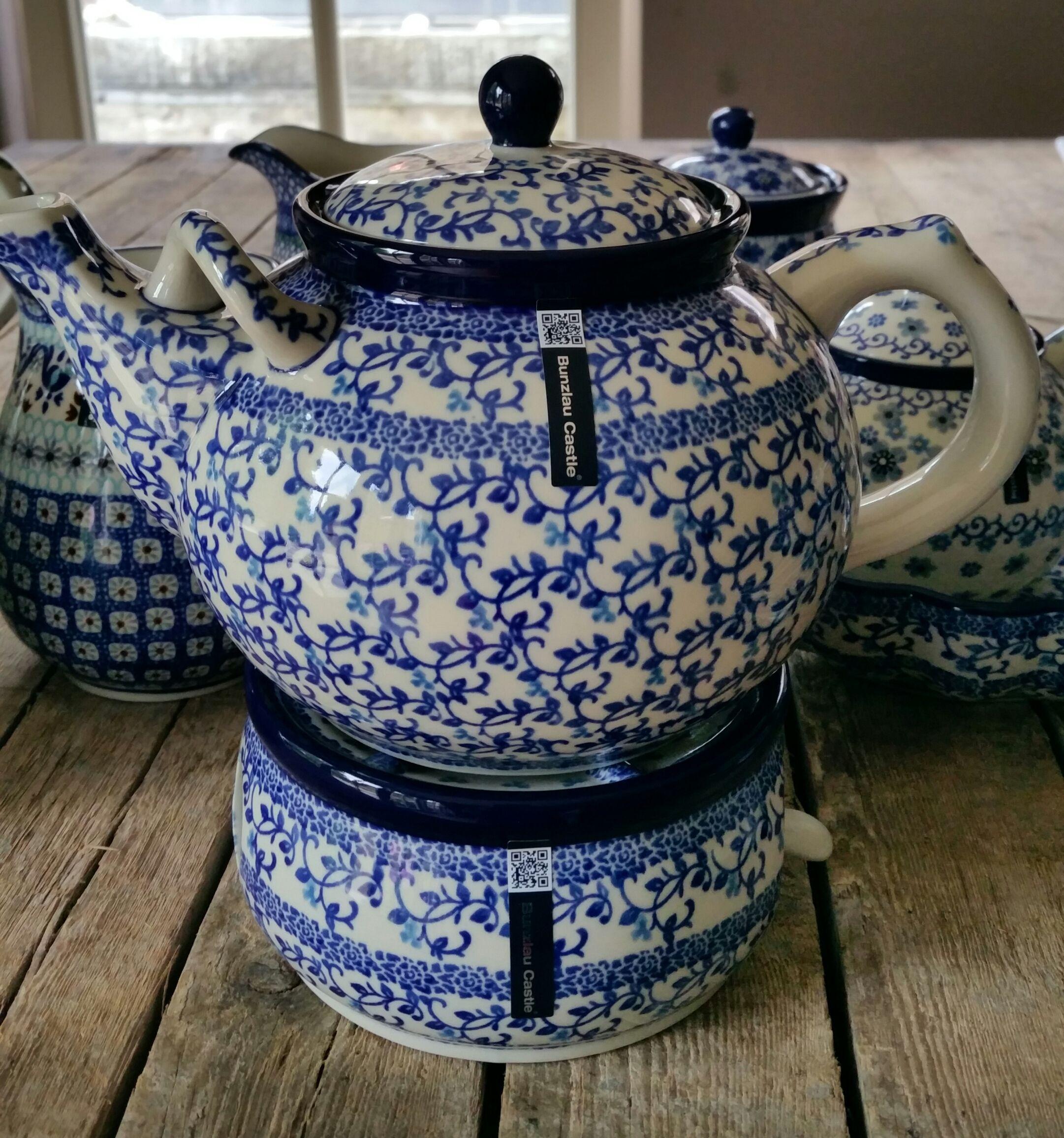 Teapot bunzlau castle azul y blanco pinterest teteras vajillas y - Vajilla rustica ...