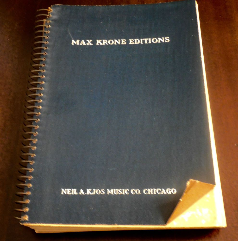 Contemporary American Choral Series Max T Krone Neil A Kjos 1939 Spiral Book