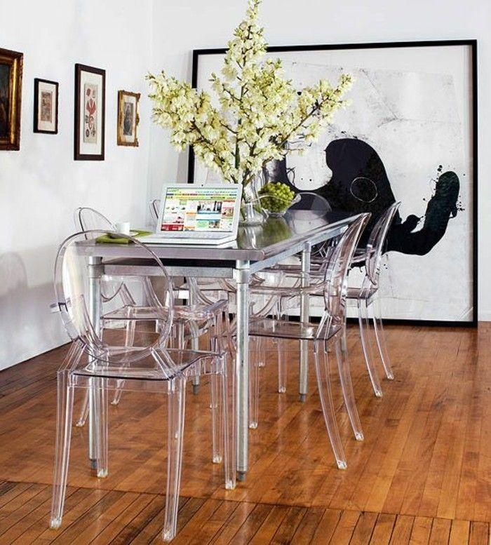 Pourquoi Choisir La Chaise Design Transparente Chaise Design Tables Etroites Salle A Manger Noire Et Blanche