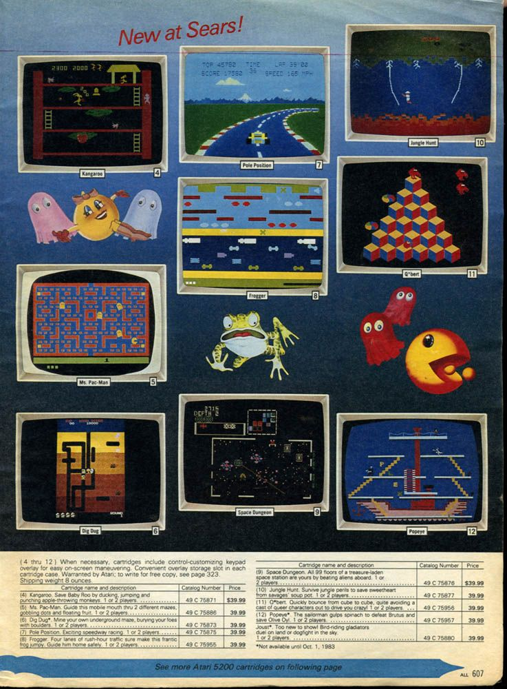 Electronic toys from holidays long past... Classic video