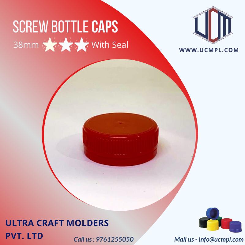 Screw Bottle Caps Used In Packaging Of Brewrages Bottle Cap Plastic Bottle Caps Bottle