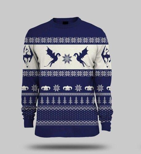 skyrim sweater fantastically nerdy pinterest skyrim