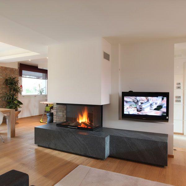 Caminetti moderni sisustusta caminetti moderni for Arredamento living moderno