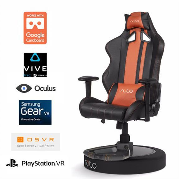 Roto VR chair, the interactive virtual reality seat ...
