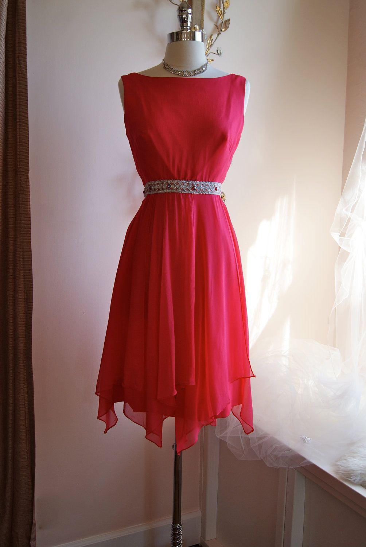 60s Dress 1960s Party Dress Vintage 1960s Lipstick Pink Chiffon Cocktail Dress Size Pink Chiffon Cocktail Dress Vintage Clothing Boutique Vintage Dresses [ 1500 x 1004 Pixel ]