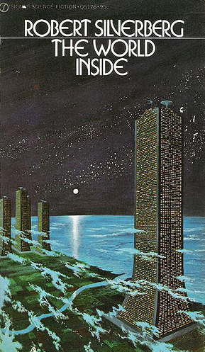 Cover of The World Inside by Dean Ellis, prolific and prominent sci-fi illustrator