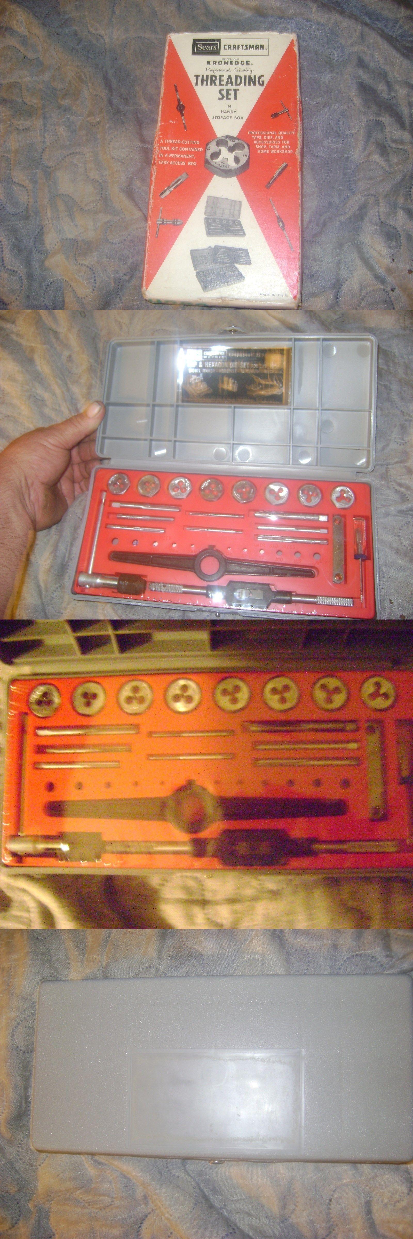 Taps and dies vintage craftsman kromadege tap and die kit new