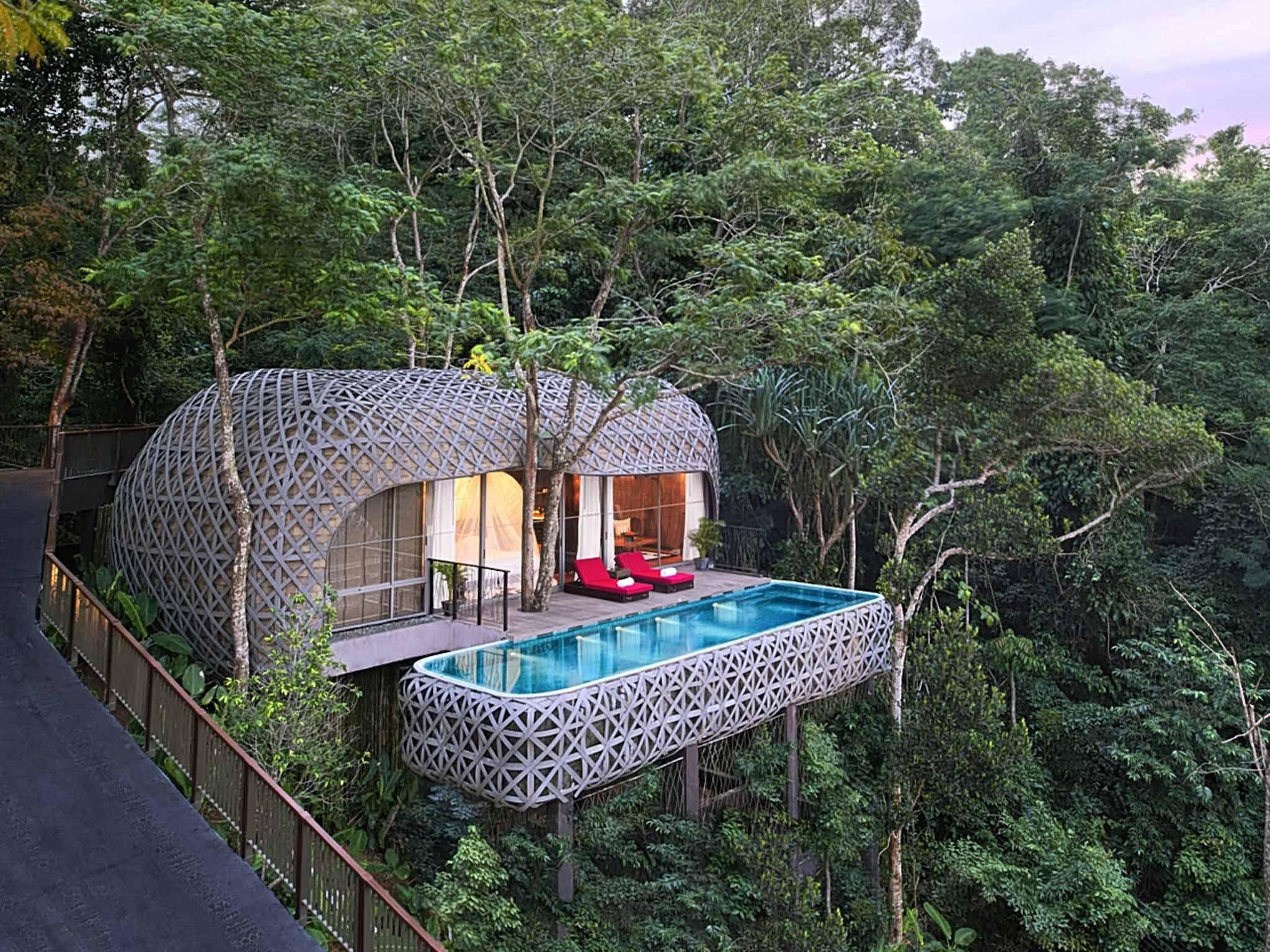 a treehouse balcony pool heaven