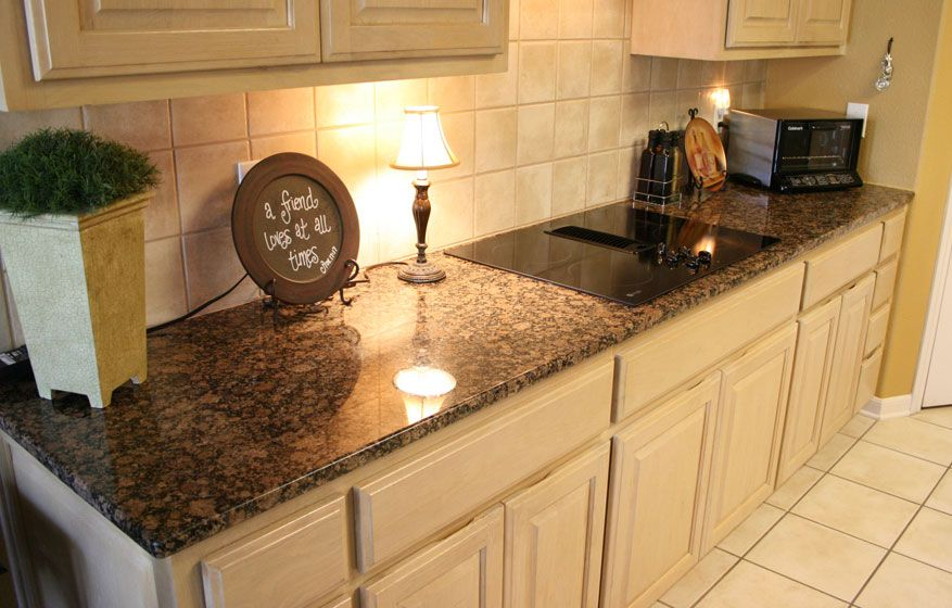 Bon Baltic Brown, Granite, Kitchen, Countertop, Neutral, White, Cabinetry,  Residential, Interior