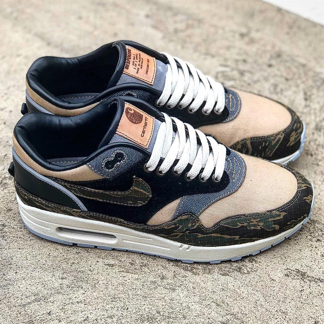 0dcf377805617 @insidesneakers • Nike x Carhartt WIP Air Force 1 UT Low PRM Green / Orange  / Brown • AV4112-300