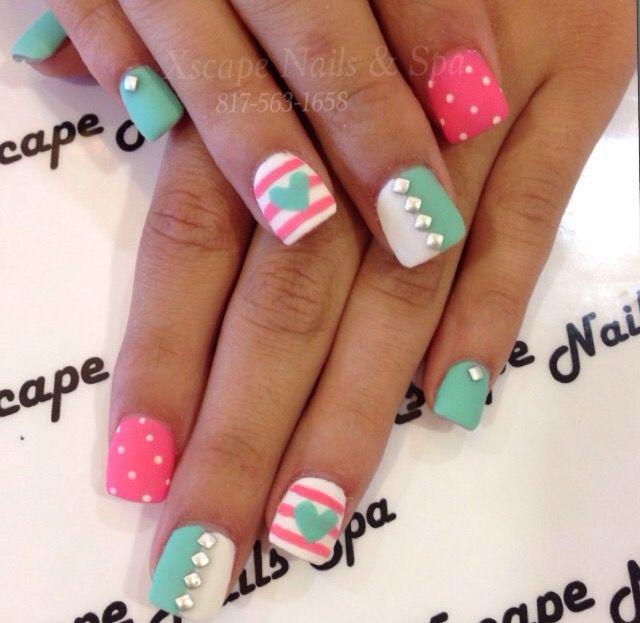 Pin by rachel on nails | Pinterest | Beauty nails, Short acrylics ...