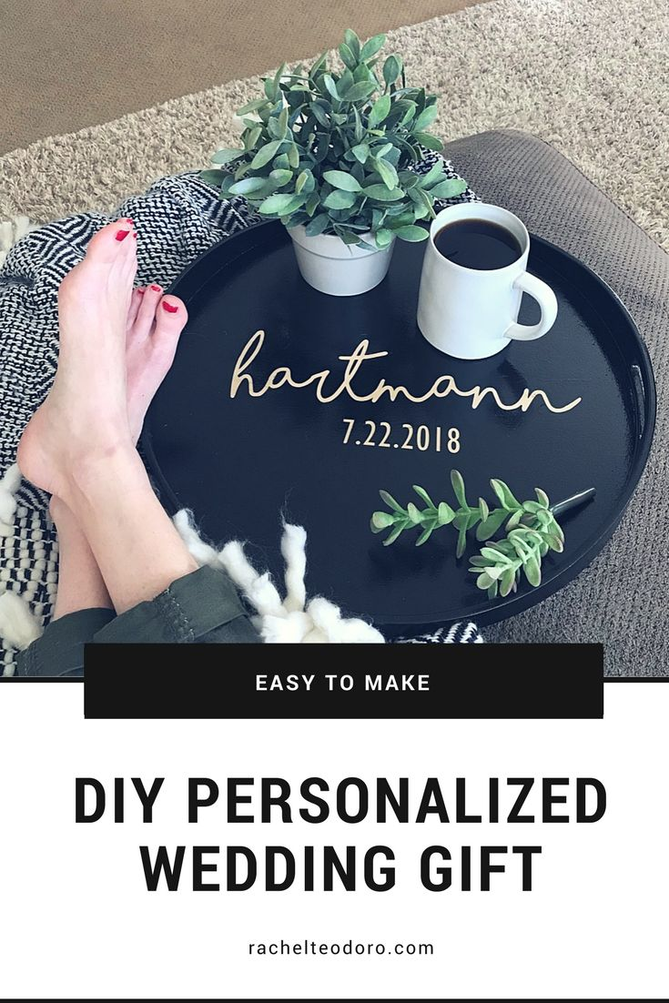 Diy personalized wedding gift tray using cutting machine and