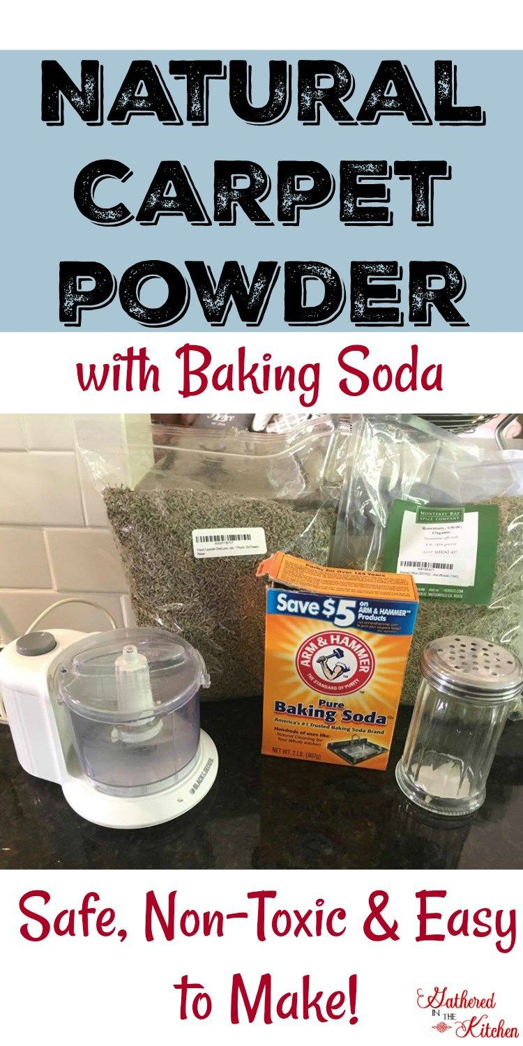 Homemade DIY Natural Carpet Powder with dried lavender and dried rosemary