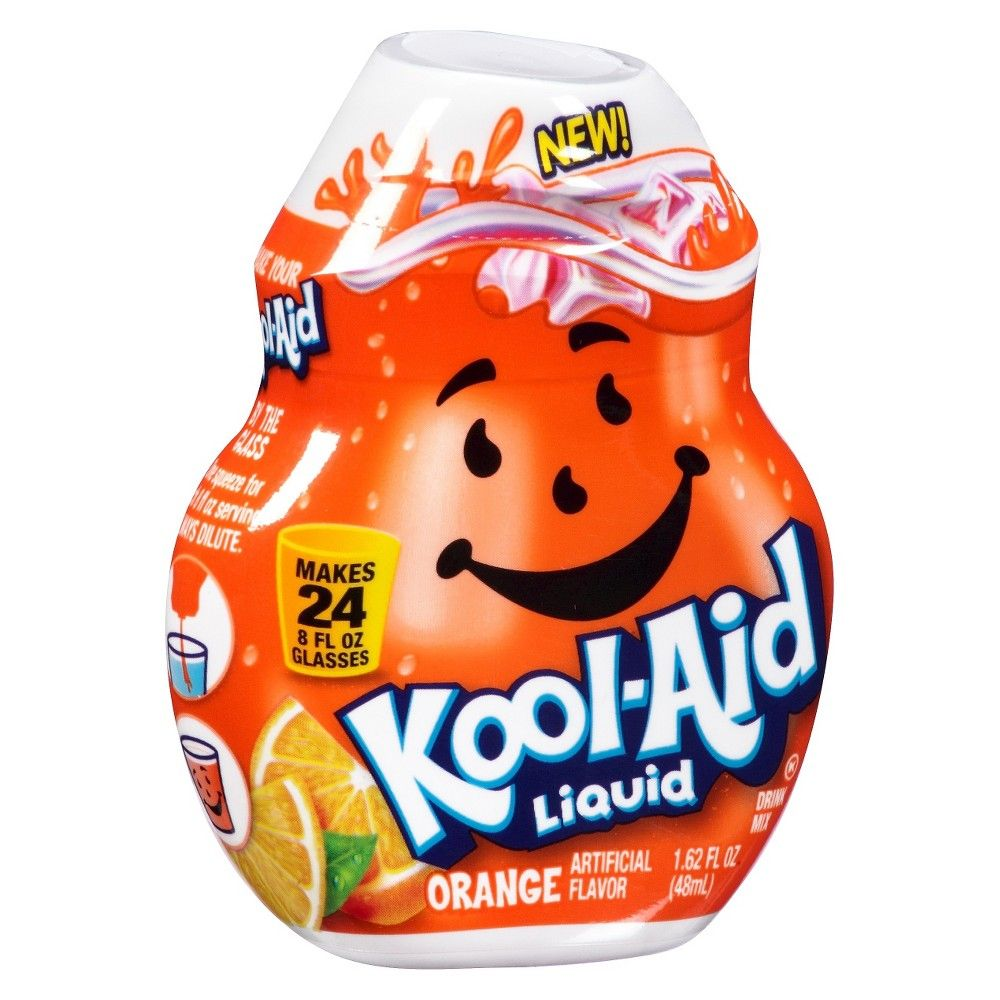 Kool Aid Liquid Orange Drink Mix 1 62 Oz Kool Aid Orange Drinks Mixed Drinks