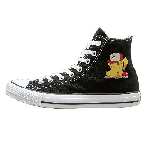 Canvas Sneakers Sport Casual Shoes - POKEMON PIKACHU Black