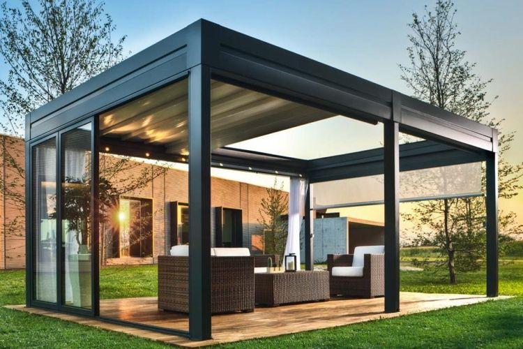 40 idées de pergola avec rideaux moderne dans le jardin | piscina ...