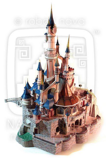 disneyland paris�sleeping beauty castle paper model