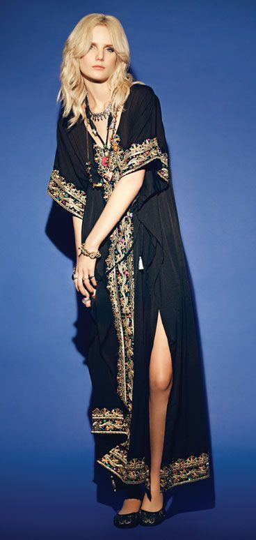 e7fcc31ce Vestido | 70's BohoChic-formal | Boho fashion, Bohemian kimono ...