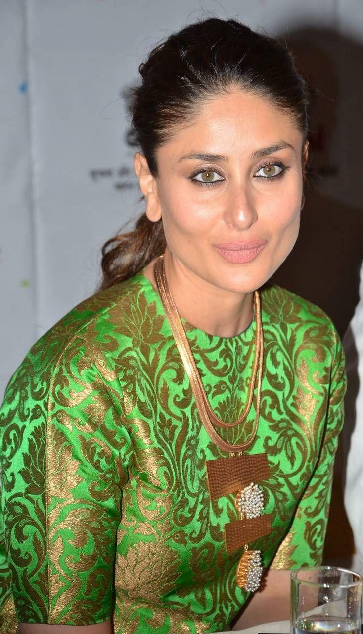 Kareena Kapoor Latest Stills In Green Dress Indian Fashion Saree Most Beautiful Indian Actress Red Long Sleeve Dress
