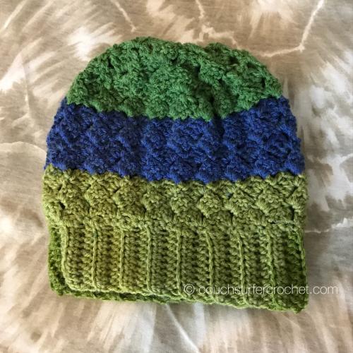 Slouchy Side Saddle Stitch Hat